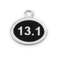 12x9mm Sterling Silver 13.1 Half Mile Marathon Charm (1-Pc)