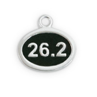 26.2 Mile Marathon Charm 12x9mm Sterling Silver