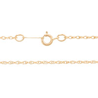 Rope Chain 1.0mm 14k Yellow Gold 20