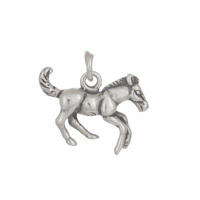 Pony Charm 13x16mm Sterling Silver (1-Pc)