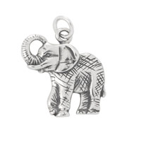 Elephant Charm 18.5mm Sterling Silver (1-Pc)