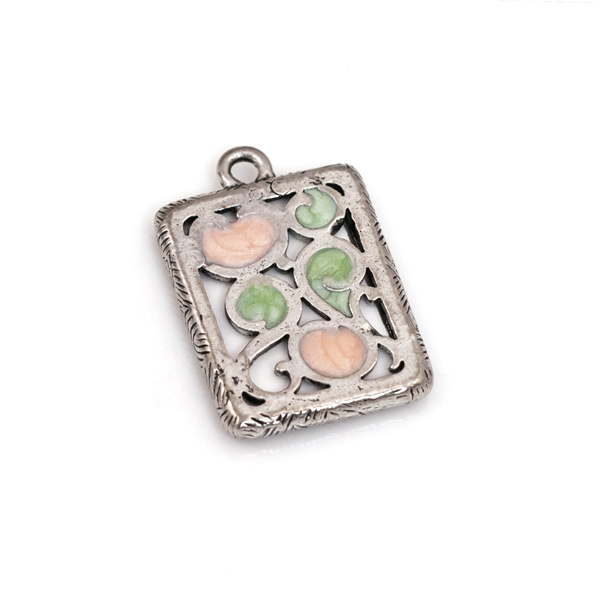 20x16mm Antique Silver Plated Pewter Picture Frame Charm | metal ...