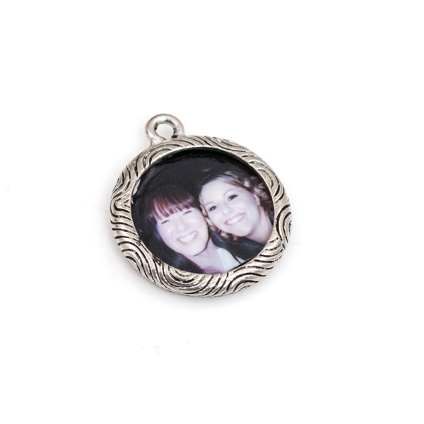 19mm Antique Silver Plated Pewter Picture Frame Charm Charm
