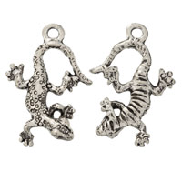 Lizard Charm 15x22mm Pewter Antique Silver Plated (1-Pc)