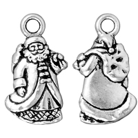 TierraCast Saint Nick Charm 22x12mm Pewter Antique Silver Plated (1-Pc)
