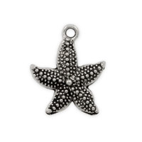 Star Fish Pewter Charm 22x20mm (1-Pc)