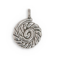 16mm Pewter Nautilus Charm (2-Pcs)