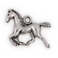 15x18mm Pewter Running Horse Charm (1-Pc)