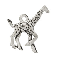 Giraffe Charm 19x16mm Pewter Antique Silver Plated (1-Pc)