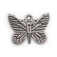 16x22mm Pewter Butterfly Charm  (2-Pcs)