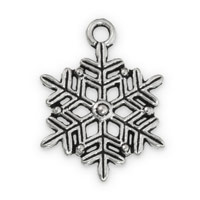22x17mm Pewter Snowflake Charm (1-Pc)