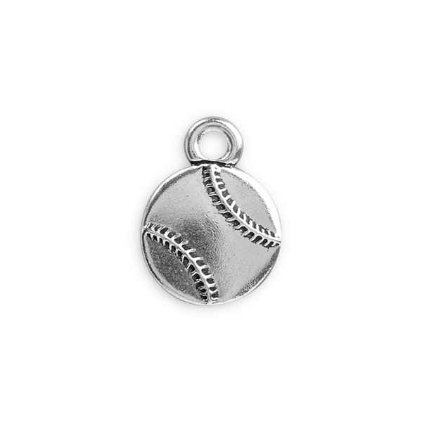 Tierracast 17mm Antique Silver Plated Pewter Baseball Charm
