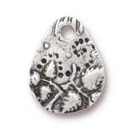 TierraCast Flora Teardrop Charm 15mm Antique Pewter (1-Pc)