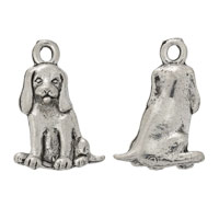 Sitting Dalmatian Charm 16x13mm Pewter Antique Silver Plated (1-Pc)