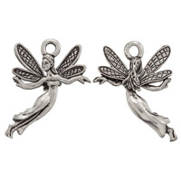 Fairy Charm 21x17mm Pewter Antique Silver Plated (1-Pc)