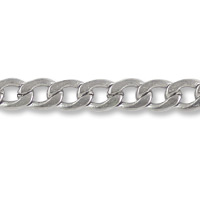 Flattened Curb Chain 3.5mm Surgical Stainless Steel (Priced per Foot)