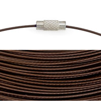 Cable Necklace with Twist Clasp 17½ Inches Brown (1-Pc)