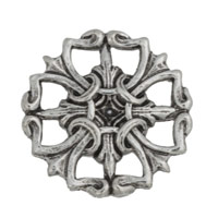 Connector - Antique Sterling Silver Plated 19mm (1-Pc)