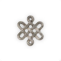 Eternity Knot Connector Pewter Antique Silver Plated 16x14mm (1-Pc)