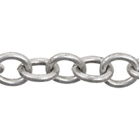 Cable Chain 7mm Antique Silver Plated (Priced per Foot)