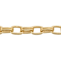 Double Cable Chain 6x4mm Gold Plated (Priced per Foot)