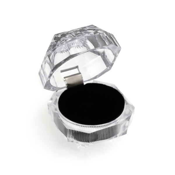 Crystal Style Diamond Lucite Ring Box Lucite boxes wholesale