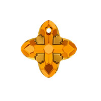 Swarovski Crystal 6868 Cross Tribe Pendant 14mm Topaz Dorado (1-Pc)