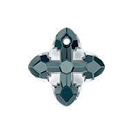Swarovski Crystal 6868 Cross Tribe Pendant 14mm Graphite Light Chrome (1-Pc)