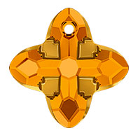 Swarovski Crystal 6868 Cross Tribe Pendant 24mm Topaz Dorado (1-Pc)
