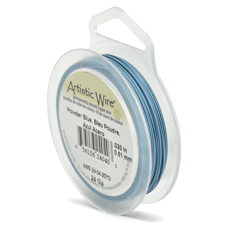 Artistic Wire Spools 22 Gauge 15yd Powder Blue