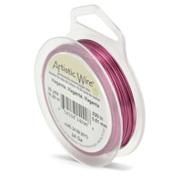 Artistic Wire 24ga Magenta (20 Yards)