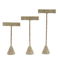 3-Piece Burlap Earring Display Set