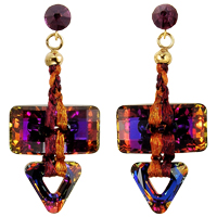 Volcano Converge Earring Kit with Swarovski Crystals and WireLace