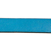 10mm Turquoise Flat Leather Strap (Priced Per Inch)