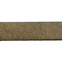 10mm Metallic Bronze Flat Leather Strap (Priced Per Inch)