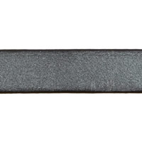 Metallic Gunmetal Flat Leather Strap 10mm Wide (Priced Per Inch)