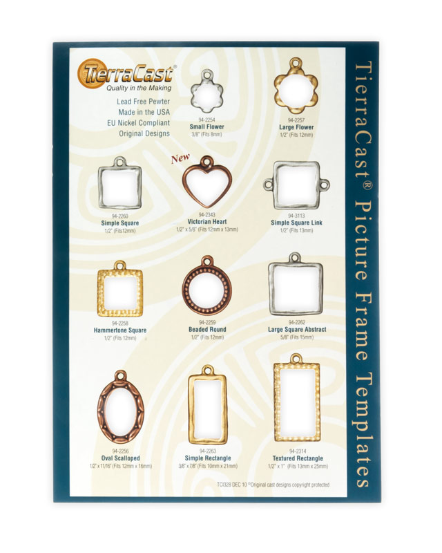 Tierracast Picture Frame Template Picture Frame Charm Sizing Gauge
