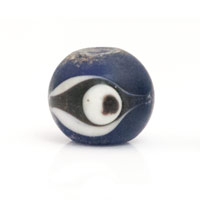 Frost Blue Glass Eye Bead 12mm (1-Pc)