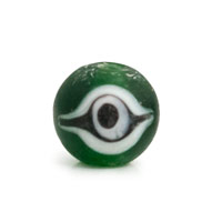 Frost Green Glass Eye Bead 12mm (1-Pc)