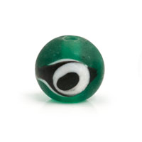 Frost Aqua Glass Eye Bead 12mm (1-Pc)