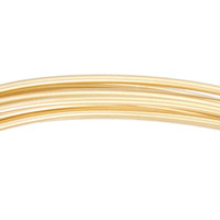 Gold Filled Round Wire Dead Soft 18ga (Priced per Foot)
