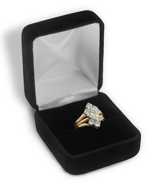 where to buy ring boxes black velvet ring box