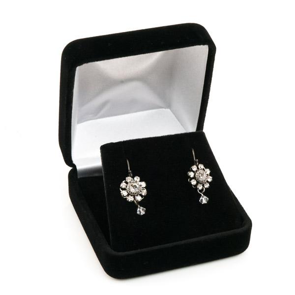 Black Velvet Pendant and Earring Box for Wholesale Jewelry