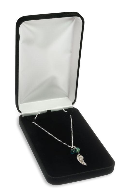 Black Velvet Necklace Box Packaging For Jewellery