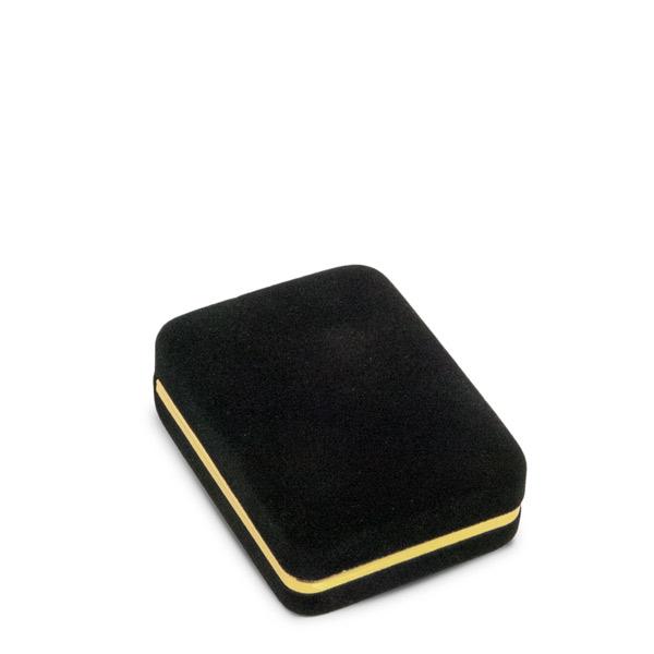 Small Black Velvet Pendant or Earring Jewelry Box