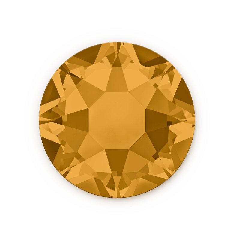 swarovski crystals 2078 ss20 topaz hotfix flat