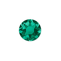 Swarovski 2028 7mm (SS34) Emerald Hotfix Flat Back (5-Pcs)