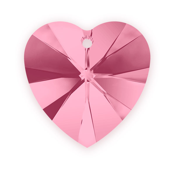 Swarovski crystal heart pendant 6228 14mm light rose swarovski swarovski crystal heart pendant 6228 14mm light rose mozeypictures Gallery