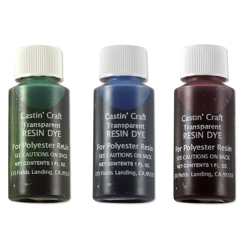 Castin 39 craft red green blue transparent resin dye for Castin craft clear resin