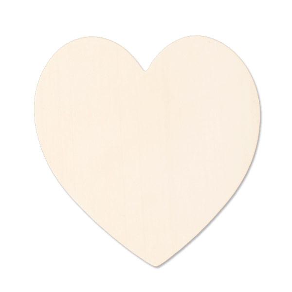 Brass Large Heart 24 Gauge Blank 1 3/8